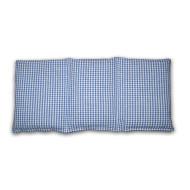 Knuffelzak blauw wit geruit