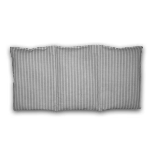 Knuffelzak grijs met witte streep