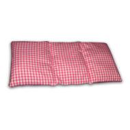 Knuffelzak roze wit geruit